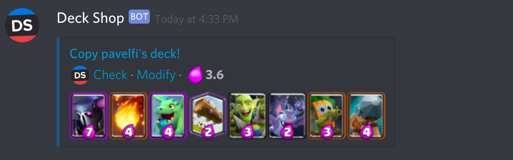 Deck Shop Discord Bot | Beste Clash Royale decks, gidsen, tutorials