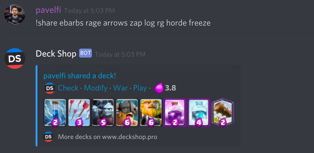 Deck Shop Discord Bot | Best Clash Royale decks, guides, tutorials, tips