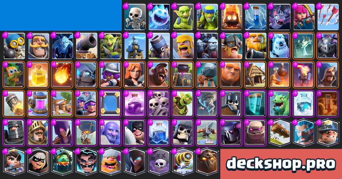 Clash Royale Cards By Arena Card Decks Stats Counters Synergies